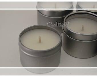 6x Soy Wax Tea light  Tealight Candle Tins (Tealights) - Tobacco & Bergamot Scented