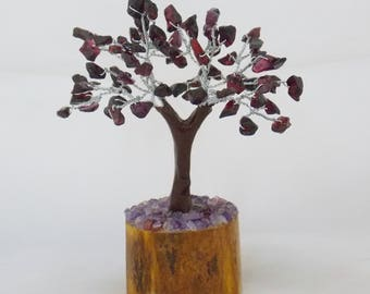 Bonsai Tree, Crystal Tree, Garnet tree, Gem Tree, Chakra Bonsai, Chakra Tree, Feng Shui Tree