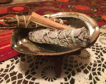 Large Abalone Shell Smudge Kit