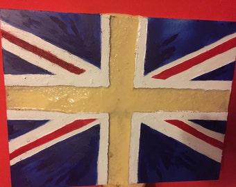 Union Jack, glow in dark, wall art, art