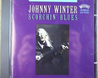 Johnny Winter - Blues/Rock Guitarist - Music CD - 'Scorchin Blues' - 10 Songs - 1992 Release - Sony
