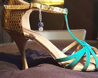 Pair of Argentine Tango Shoe Charms