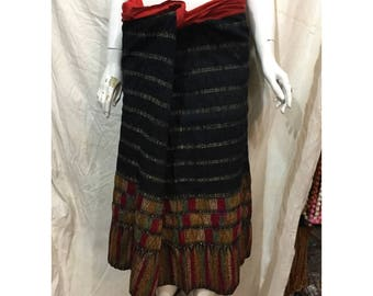 Vintage tribal Tho women tube skirt in Nghe an province,bordering Vietnam and Lao country