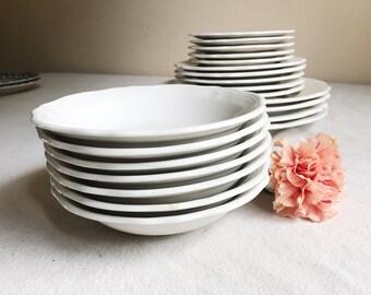 Federalist Ironstone Bowls, White Ironstone Bowls, Vintage Ironstone Bowls, Antique Ironstone, Shabby Chic Dishes, Farmhouse Kitchen