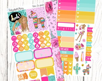 Viva La Fiesta | Mexican, Party, Summer, Vacation, Planner Stickers, PERSONAL SIZED KIT