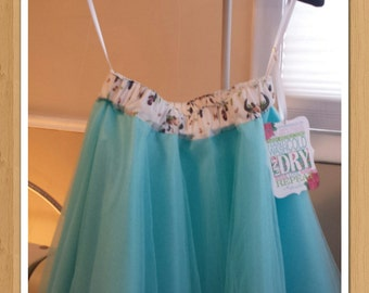 lil cowgirl aqua tulle skirt