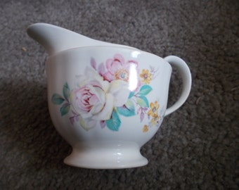 Cream Pitcher with Flowers