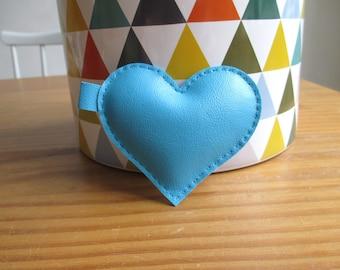 Big blue heart keychain