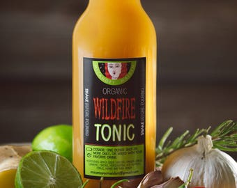 Tonic - Health Tonic - Immune System Support - Natural Medicine - Ginger - Turmeric - Garlic - Apple Cider Vinegar - Raw Honey - Hot Peppers