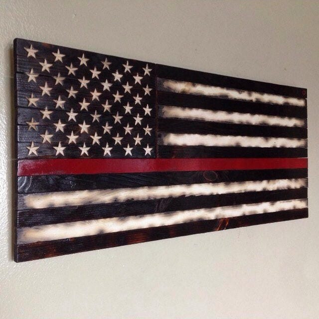 Wooden American Flag Wall Art american flag wood american flag american wood flag