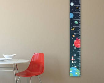 Personalised Height Chart - Space