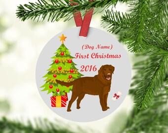 Chocolate Labrador Ornament - Chocolate Labrador Christmas Ornament -Labrador Ornament-Labrador -Chocolate Labrador First Christmas Ornament