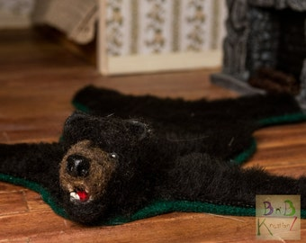 bearskin rug dollhouse miniature 112 scale - Bearskin Rug
