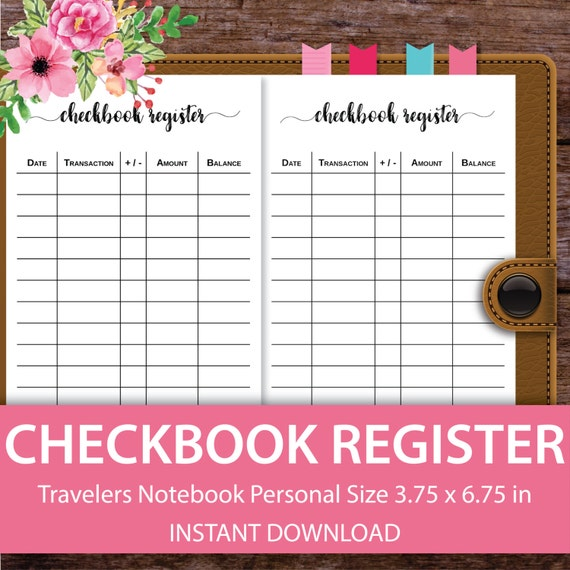 checkbook register check register personal by alinascreativecorner