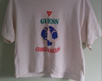 90s vintage Guess crop top t-shirt