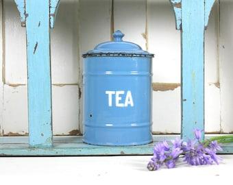 Vintage Enamel Tea Canister