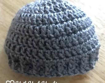 Newborn Baby Hat - Baby Boy Hat , Baby Girl Hat, Crochet Baby Hat, Baby Girl Beanie, Baby Boy Beanie, Hat with Flower, Baby Shower Gift
