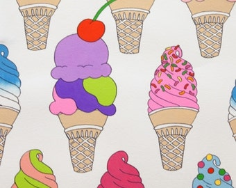 Soft Serve in Natural - Alexander Henry - cotton fabric