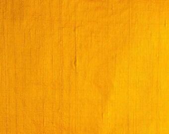 Yellow Dupion Raw Silk Fabric
