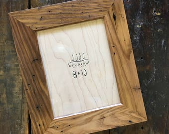 reclaimed wormy chestnut photo frame // 8 x 10 // picture frame