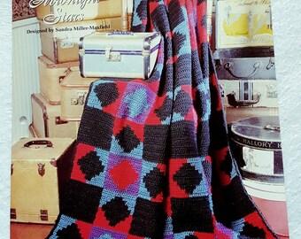 1995 The Needlecraft Shop Midnight Stars Crochet Afghan Pattern