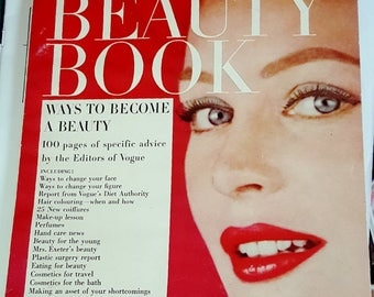 1957-58 Vogue's Beauty Book Ephemera Magazine 146 Pages of Tips, Fashion, Makeup and More!