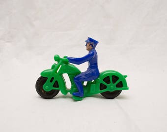 Vintage Hubley Motorcycle Police Officer Toy - 1950's