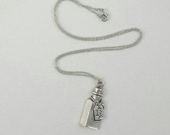 Alice in Wonderland Drink Me Bottle Necklace, Alice in Wonderland Jewelry
