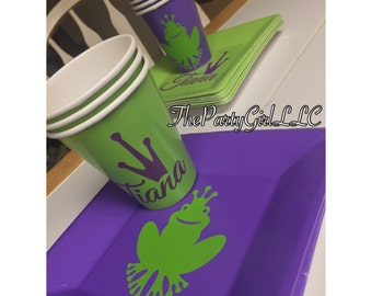 Princess Tiana And The Frog Cup And Plate Set ! (AnyTHEME's Possible -Convo Me!)
