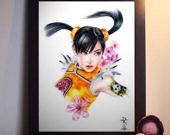 Ling Xiaoyu from Tekken - A4 Art Prints