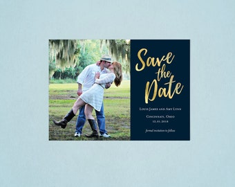 Single Photo Save the Date - Custom Downloadable