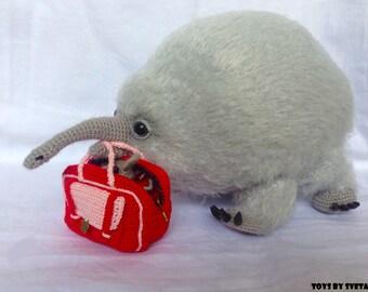 Stuffed Animal toy echidna Knit Toy Crochet toy amigurumi echidnas family