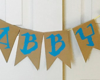 Name banner only, Moana/ Maui inspired