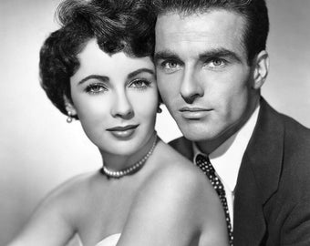 Montgomery Clift, Elizabeth Taylor, Black and White 8x10 Photo Picture Celebrity Print