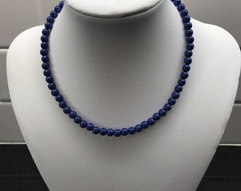 Saphire Blue Mid Glowwbead Choker
