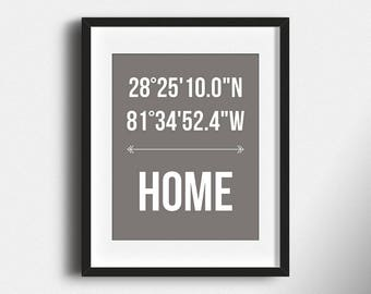 Home Coordinates Personalized Print New Home Coordinates Print New Home Print