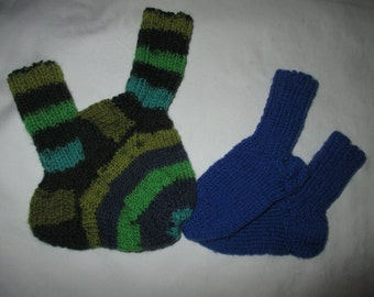 2 Pack Twin Pack baby socks hand made foot 12-12.5 cm Gr. 18/19 socks wool