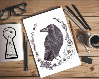 A4 print - Crow illustration