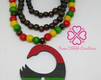 Sankofa Ankh necklace
