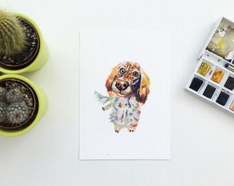 English setter picture, setter dog painting, Giclee, English setter gift, English Setter dog, dog drawing, dog gift, dog present, Setter art