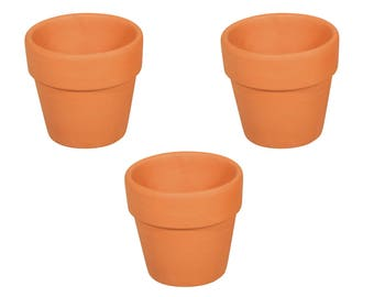 24 Mini Terracotta Flower Pots - Party Favours & Crafts (No Hole) - Choice of sizes