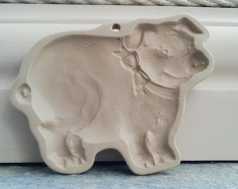 pig cookie mold press - Brown Bag Cookie Art - pig theme cookie press,  pig lover gift -  cookie stamp bakeware - pig shape baking tool