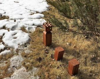 KUBB / KOOB Outdoor Viking Family Lawn Game, Mad Max Zombie Battle Kubb