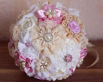 Bridesmaids bouquet, fabric bouquet for bridesmaids, brooch bouquet, bouquet for gerlfrends