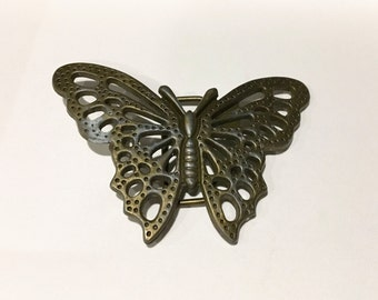 Vintage Brass/ Metal Butterly Belt Buckle - Present for her
