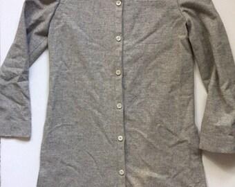 60's long wool coat Vintage women's light grey jacket Small Casper for J. L Sports