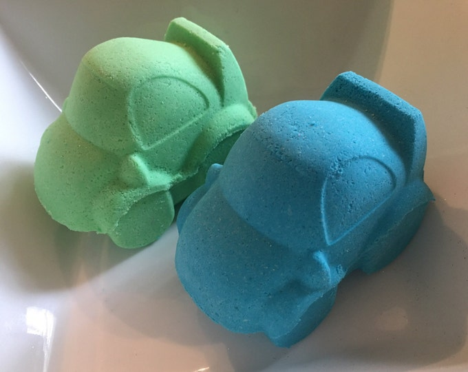 2pc jumbo cars bath bomb kids bath bombs