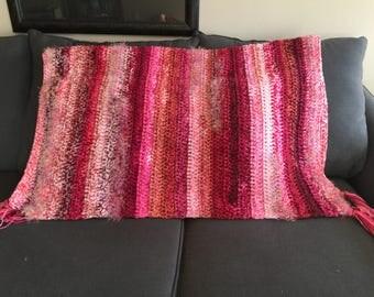 Blanket, Crochet Blanket, Pink Crochet Blanket, Crochet Throw Blanket