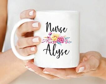 Custom Nurse Mug, Nurse Mug, Nurse Graduation Gift, Personalized Nurse Mug, Nurse Gift, Custom Nurse Gift