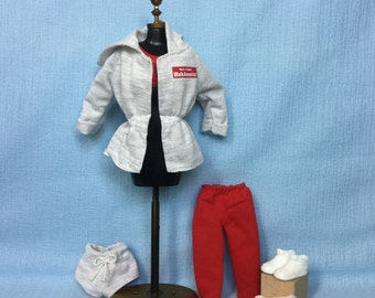 "Barbie Doll ""Workout/Jogging/Gym"" Complete Outfit Set (Vintage, Newly Deboxed)"